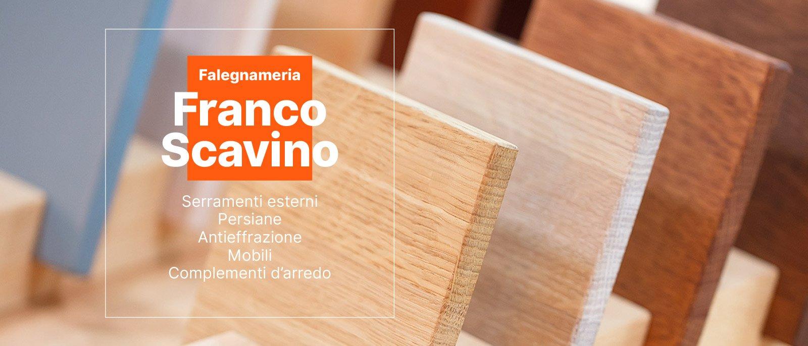 Falegnameria Franco Scavino - Serramenti e sistemi oscuranti, mobili e arredi su misura